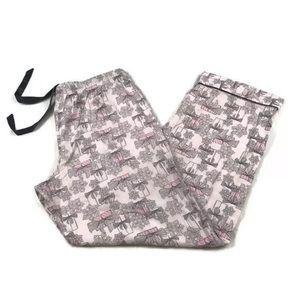 Victoria's Secret Snowflake Pajama Lounge Pants